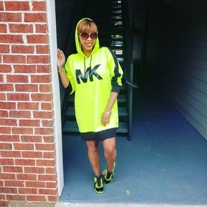 IM WEARING ..Michael Kors sweater dress